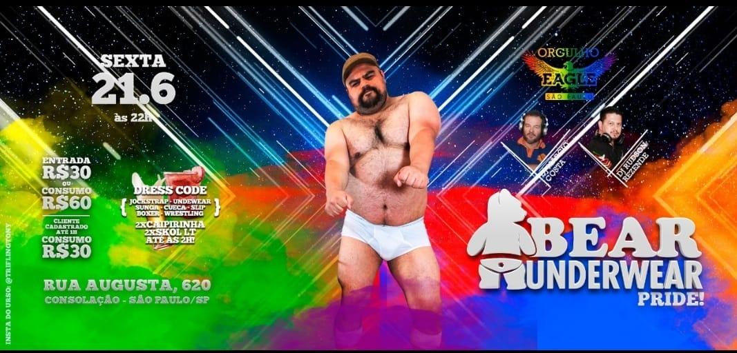 Bear Underwear Sex, 21 Jun às 22h a São Paulo le ven 21 giugno 2019 22:00-05:00 (Clubbing Gay)