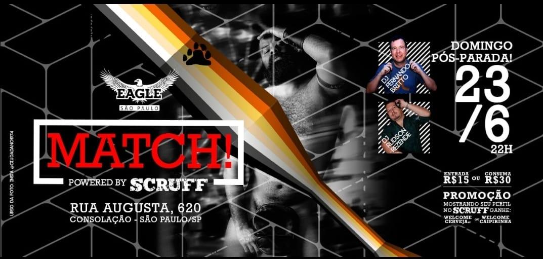 MATCH! Pós Pride Dom, 23 Jum às 20h a São Paulo le dom 23 giugno 2019 20:00-05:00 (Clubbing Gay)