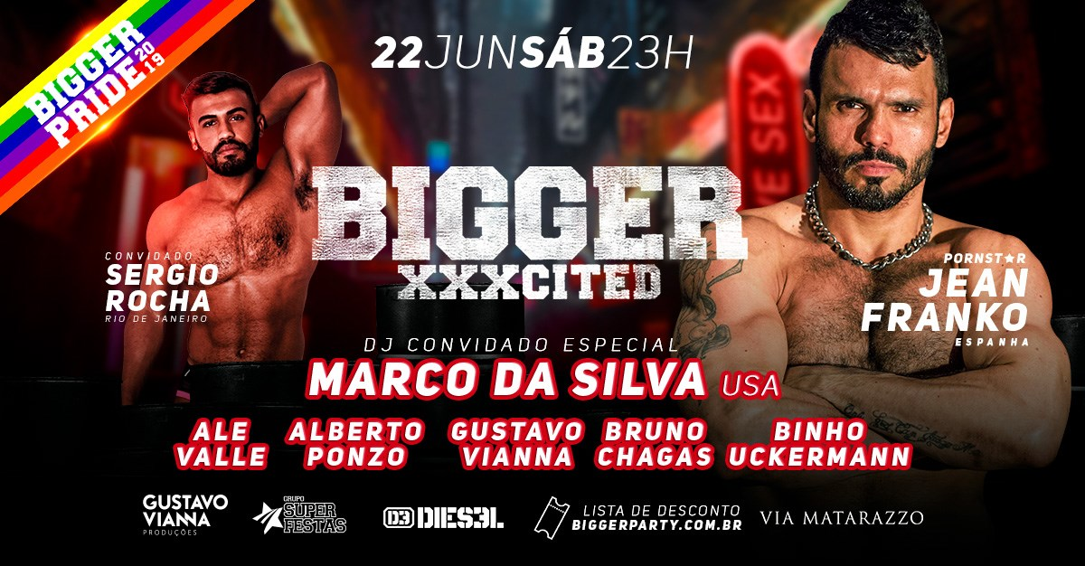 BiggerXXXcited @BiggerPride 2019 in São Paulo le Sat, June 22, 2019 from 11:00 pm to 08:00 am (Clubbing Gay)