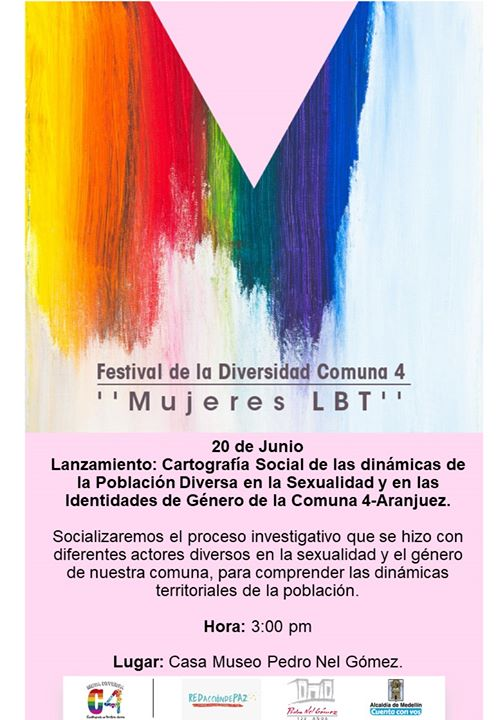Lanzamiento: Cartografía Social LGBTI Comuna 4 in Medellín le Thu, June 20, 2019 from 03:00 pm to 06:00 pm (Meetings / Discussions Gay, Lesbian, Trans, Bi)