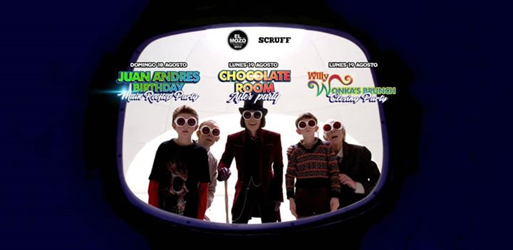 BogotáThe Willy Wonka experience / Juan Andres Birthday Marathon Party2019年 2月19日,02:00(男同性恋 俱乐部/夜总会)