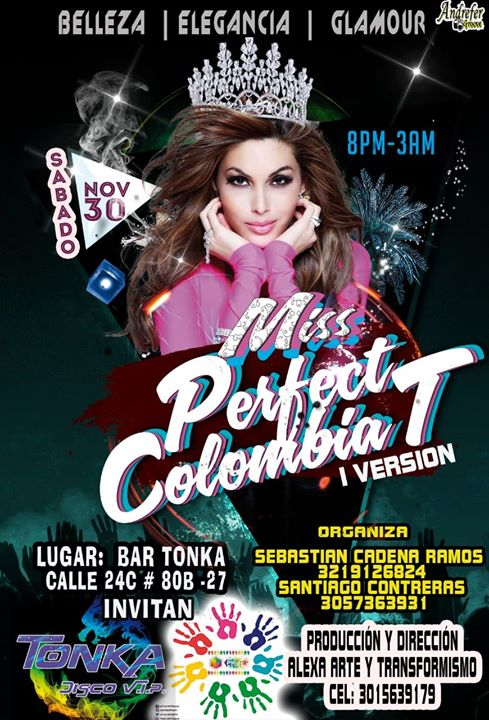 MISS Perfect Colombia T à Bogotá le sam. 30 novembre 2019 de 19h30 à 03h00 (After-Work Gay, Lesbienne, Trans, Bi)