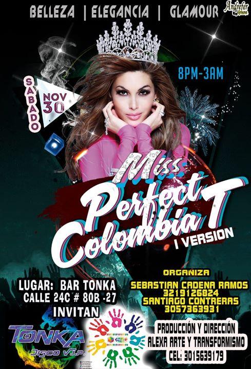 MISS Perfect Colombia T a Bogotá le sab 30 novembre 2019 19:30-03:00 (After-work Gay, Lesbica, Trans, Bi)