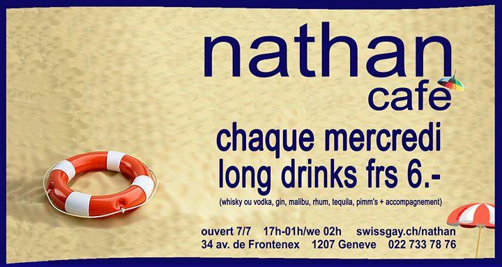 日内瓦Les mercredis du Nathan Café Genève2019年 5月25日,17:00(男同性恋 下班后的活动)