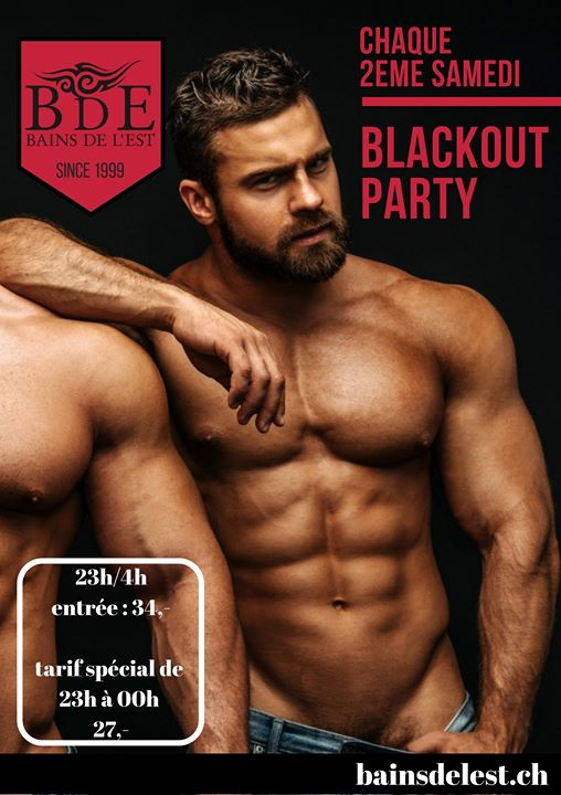 Blackout in Geneva le Sat, October 12, 2019 from 11:00 pm to 04:00 am (Sex Gay)