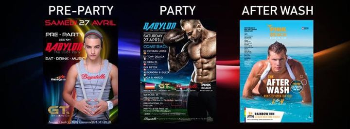 Babylon Party - Come Back à Lausanne le sam. 27 avril 2019 de 23h00 à 06h00 (Clubbing Gay, Lesbienne, Hétéro Friendly)