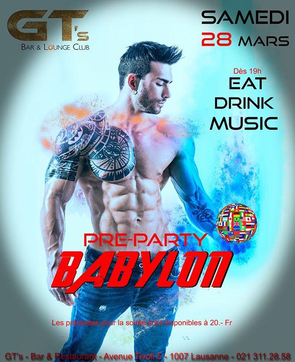 洛桑Pre-Party Babylon Official2020年 7月28日,19:00(男同性恋, 女同性恋, 异性恋友好 俱乐部/夜总会)
