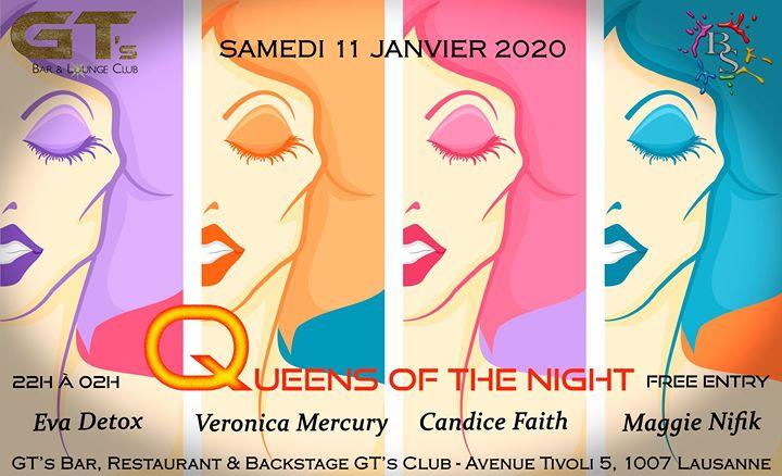 洛桑Queens of the Night2020年 9月11日,21:30(男同性恋, 女同性恋, 异性恋友好 俱乐部/夜总会)