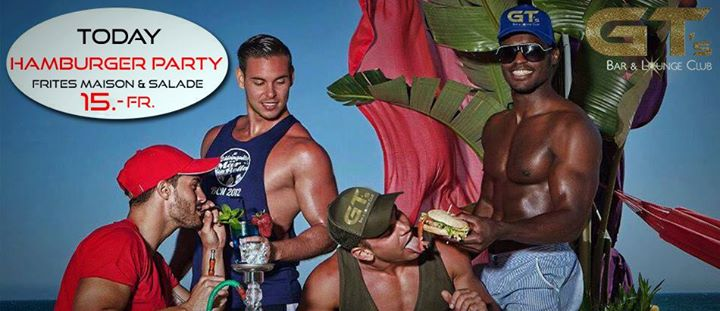 Hamburger Party à 15.- in Lausanne le Thu, July 16, 2020 from 07:00 pm to 01:00 am (After-Work Gay, Lesbian, Hetero Friendly)