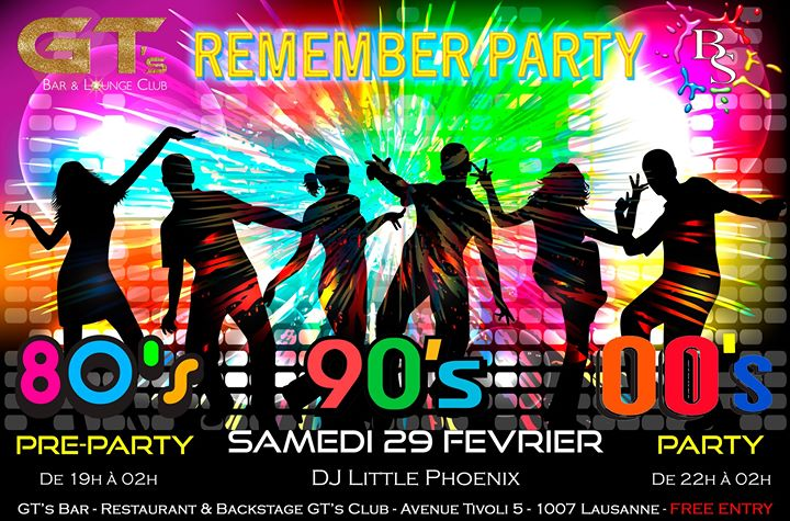 Remember Party a Lausanne le sab 29 febbraio 2020 19:00-02:00 (After-work Gay, Lesbica, Etero friendly)