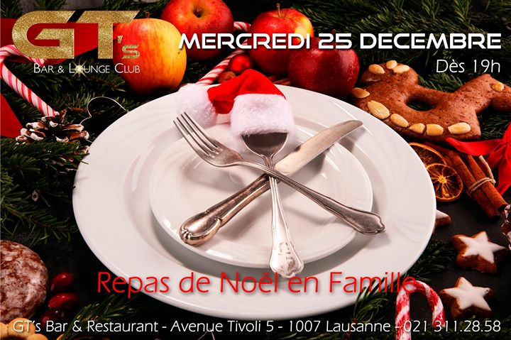Repas de Noël en Famille in Lausanne le Wed, December 25, 2019 from 07:00 pm to 01:00 am (After-Work Gay, Lesbian, Hetero Friendly)