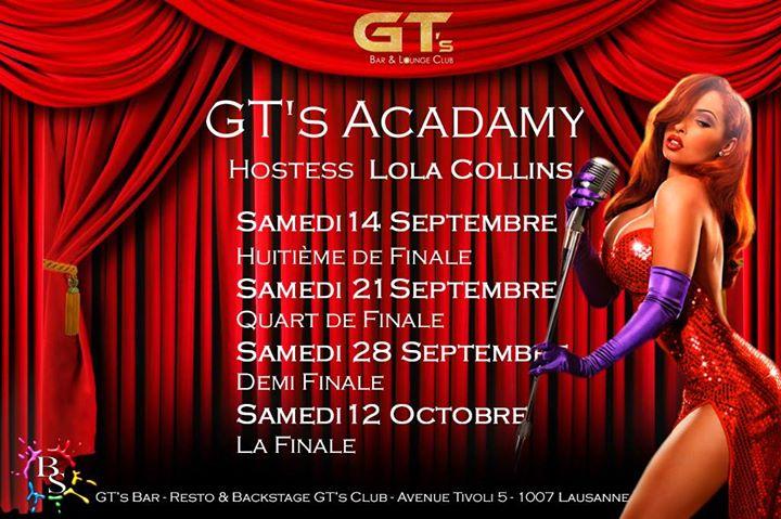 QUART de Finale GT's Academy in Lausanne le Sat, September 21, 2019 from 10:00 pm to 02:00 am (Clubbing Gay, Lesbian, Hetero Friendly)