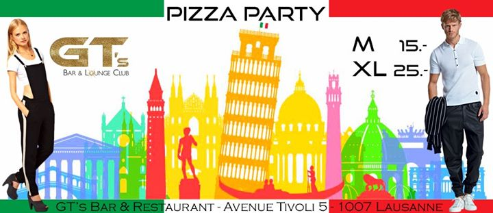 Pizza Party 15.- & 25.- in Lausanne le Thu, January 23, 2020 from 07:00 pm to 01:00 am (After-Work Gay)