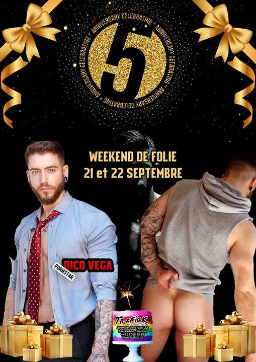 Week-end de folie: Les 5 ans du trafick Anniversaire em Lausanne le sáb, 21 setembro 2019 21:00-20:00 (Sexo Gay)