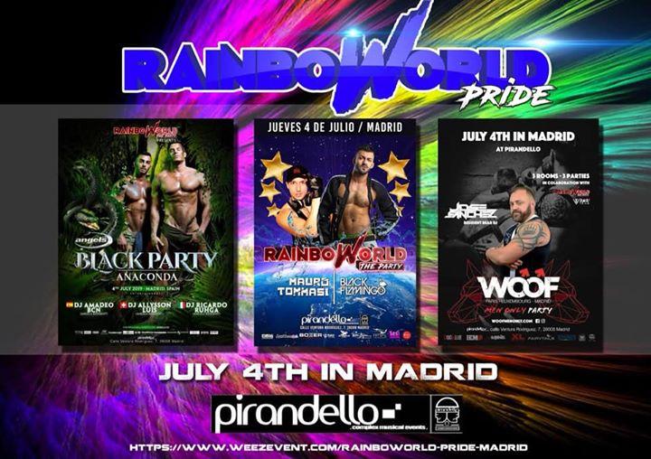 Rainboworld Pride Madrid en Madrid le jue  4 de julio de 2019 23:55-06:00 (Clubbing Gay)