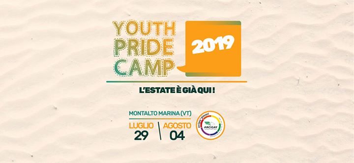 Youth Pride Camp 2019 in Montalto di Castro von 29 Juli bis  4. August 2019 (Begegnungen / Debatte Gay, Lesbierin)