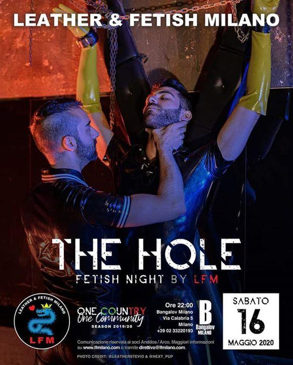 The Hole 16 Mag 2020 à Milan du 16 au 24 mai 2020 (Sexe Gay)