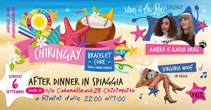 Chiringay | a Piedi Nudi Sulla Spiaggia in Rimini le Fri, September  6, 2019 from 10:00 pm to 01:00 am (After-Work Gay, Lesbian, Trans, Bi)