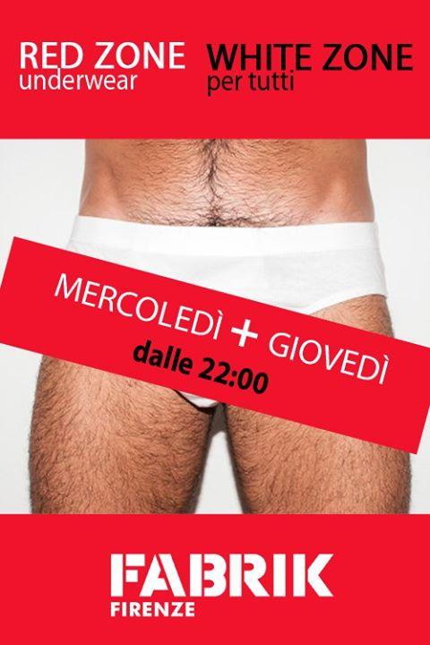 Red Zone / White Zone_ogni mercoledì à Florence le mer. 15 janvier 2020 de 22h00 à 03h00 (Sexe Gay)