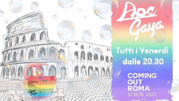 APE GAYA: Aperitivo sull'Ape à Rome le ven. 19 juillet 2019 de 20h30 à 02h00 (Clubbing Gay)