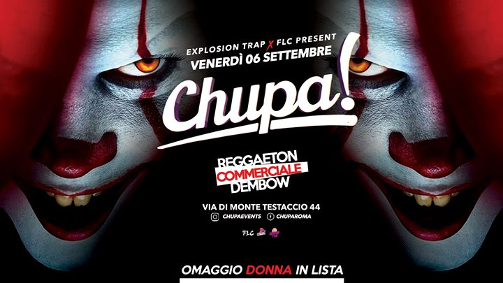 Chupa / iT Party• La Terrazza Alibi • Roma • Ogni Venerdì in Rome le Fri, September  6, 2019 from 11:00 pm to 05:00 am (Clubbing Gay Friendly)