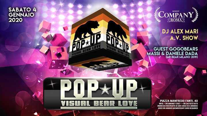 #RBW ~ POP•UP | Alex•Mari in Rome le Sat, January  4, 2020 from 10:30 pm to 04:00 am (Sex Gay, Bear)