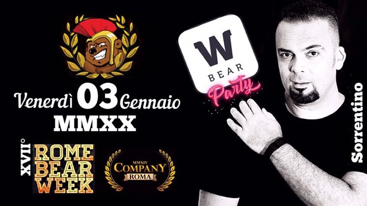 #RBW ~ W|BEAR party | Sorrentino in Rome le Fri, January  3, 2020 from 10:30 pm to 05:00 am (Sex Gay, Bear)