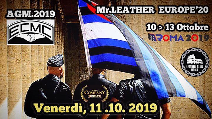 #Mr.LEATHER•EUROPE | Warm•Up•Party à Rome le ven. 11 octobre 2019 de 22h30 à 04h30 (Sexe Gay, Bear)