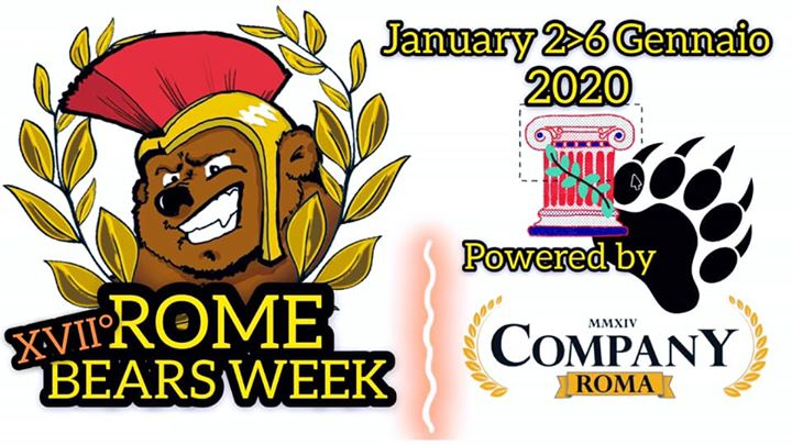 XVII° ROME BEARS WEEK in Rome from  2 til January  7, 2020 (Sex Gay, Bear)