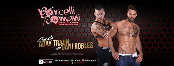 Porcelli Romani - Hot Party for Men en Roma le sáb 14 de diciembre de 2019 22:30-05:00 (Sexo Gay)