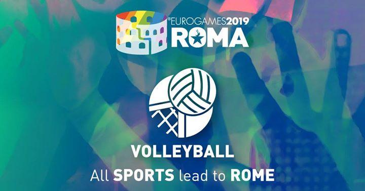 Roma Eurogames 2019 - Volleyball Tournament à Rome le jeu. 11 juillet 2019 de 09h00 à 16h00 (Sport Gay, Lesbienne, Trans, Bi)