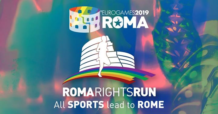 Roma Eurogames 2019 - Roma Rights Run 5 km (not competitive) a Roma le sab 13 luglio 2019 09:00-16:00 (Sport Gay, Lesbica, Trans, Bi)