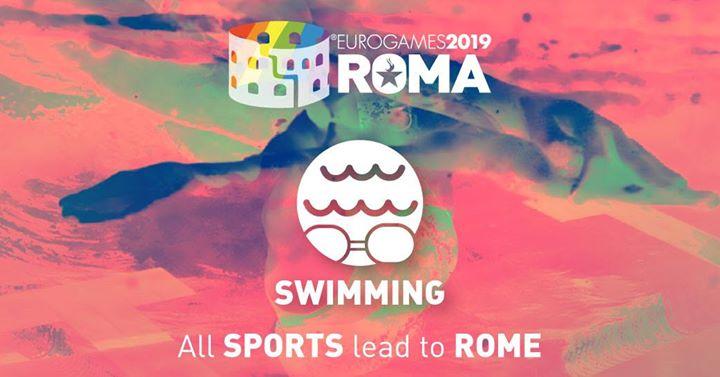Roma Eurogames 2019 - Swimming Tournament à Rome le jeu. 11 juillet 2019 de 09h00 à 16h00 (Sport Gay, Lesbienne, Trans, Bi)