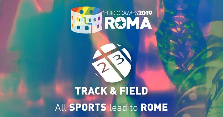 Roma Eurogames 2019 - Track & Field Tournament in Rome le Sat, July 13, 2019 from 09:00 am to 04:00 pm (Sport Gay, Lesbian, Trans, Bi)