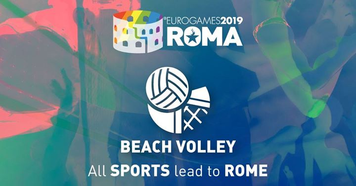 Roma Eurogames 2019 - Beach Volley Tournament in Rome le Sat, July 13, 2019 from 09:00 am to 04:00 pm (Sport Gay, Lesbian, Trans, Bi)