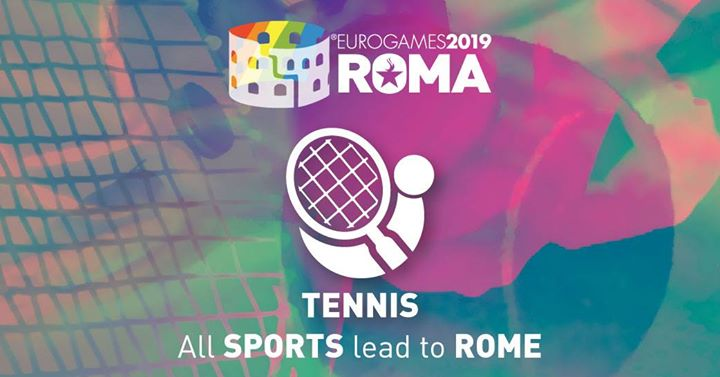 Roma Eurogames 2019 - Tennis Tournament in Rome le Thu, July 11, 2019 from 09:00 am to 04:00 pm (Sport Gay, Lesbian, Trans, Bi)