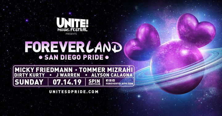 Unite! Music Festival & Masterbeat Present Foreverland in San Diego le Sun, July 14, 2019 from 10:00 pm to 09:00 am (Clubbing Gay, Lesbian)