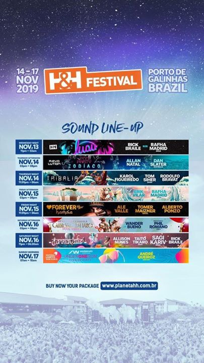 H&H Festival in Ipojuca le Fri, November 15, 2019 from 11:00 pm to 06:00 am (Clubbing Gay)