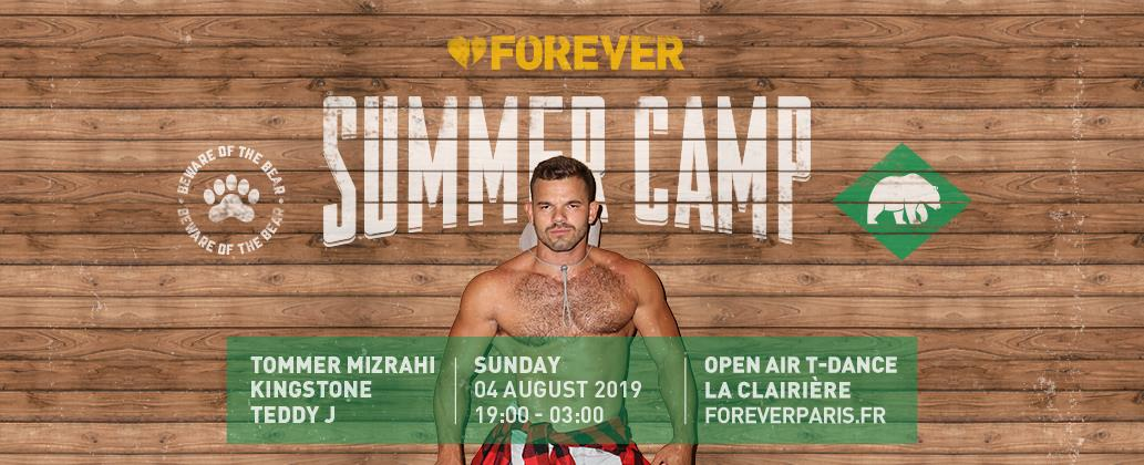 Forever Summer Camp Paris @La Clairière in Paris le Sun, August  4, 2019 from 07:00 pm to 02:00 am (Clubbing Gay)