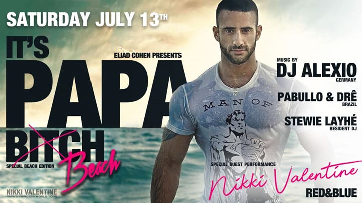 PAPA Beach Edition ft. Nikki Valentine in Antwerpen le Sa 13. Juli, 2019 23.00 bis 08.00 (Clubbing Gay)
