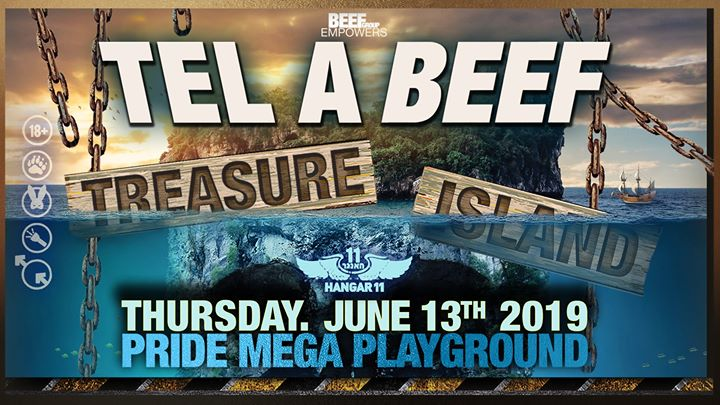 Tel a Beef: Treasure Island Pride main event in Tel Aviv le Do 13. Juni, 2019 23.00 bis 08.00 (Clubbing Gay)
