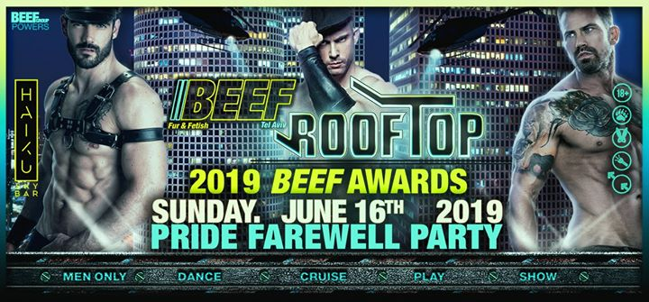 Roof Top - pride 2019 closing party in Tel Aviv le Sun, June 16, 2019 from 09:00 pm to 03:00 am (Clubbing Gay)