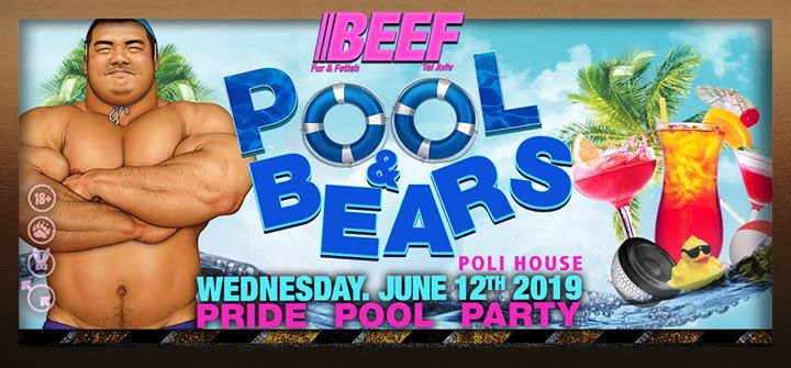 Pool and Bears in Tel Aviv le Mi 12. Juni, 2019 19.00 bis 01.00 (After-Work Gay)