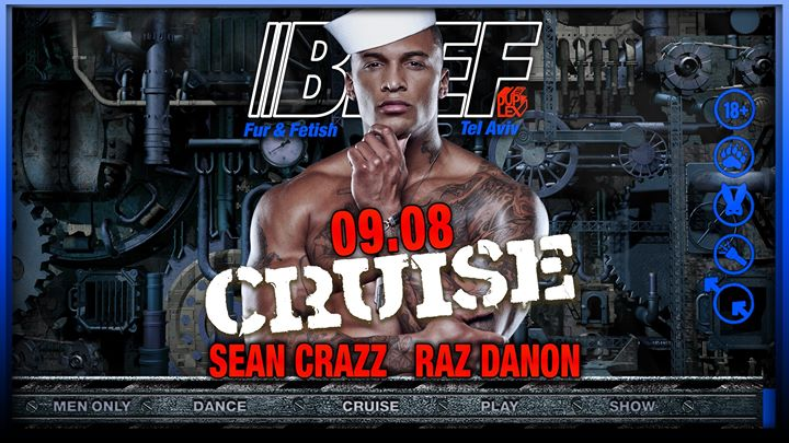 BEEF - Cruise in Tel Aviv le Fr  9. August, 2019 23.59 bis 07.00 (Clubbing Gay)