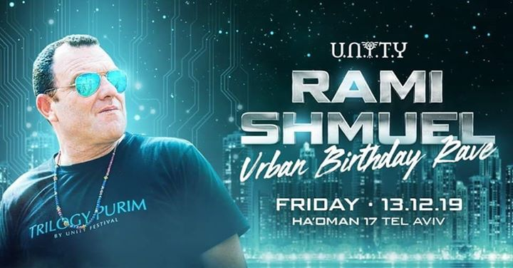 Hanukkah Winter Session: Rami Shmuel Urban B-Day Rave em Tel Aviv le sex, 13 dezembro 2019 22:00-08:00 (Clubbing Gay Friendly)