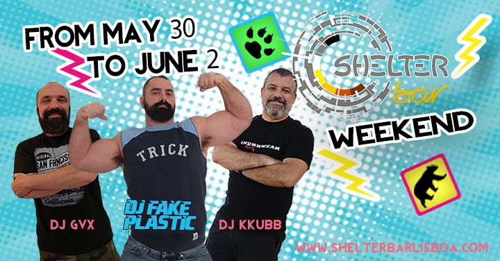 Dj Fake Plastic (MadBear), DJ GVX and DJ KKUBB in Lissabon le Do 30. Mai, 2019 23.00 bis 03.00 (Clubbing Gay, Bear)