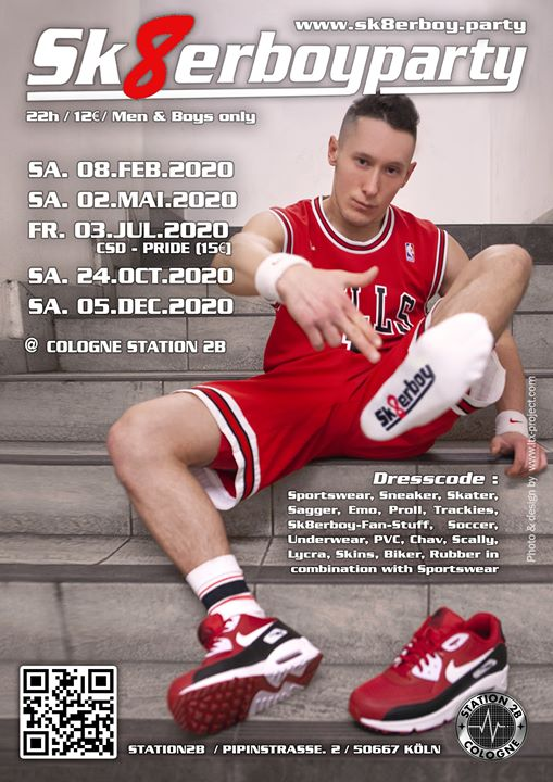 Sk8erboy Party 2020 in Koln le Fri, July  3, 2020 from 10:00 pm to 04:00 am (Sex Gay)