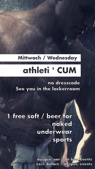 Athleti ' CUM in Koln le Wed, November 13, 2019 from 07:00 pm to 11:59 pm (Sex Gay)
