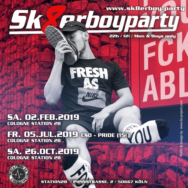 Sk8erboy Party Cologne Fall 2019 à Cologne le sam. 26 octobre 2019 de 22h00 à 04h00 (Sexe Gay)