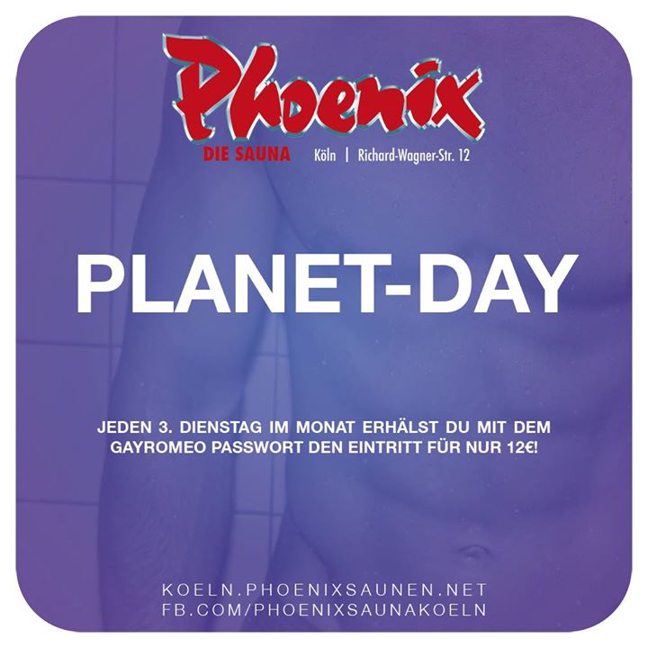 Planet Day in Köln le Di 16. April, 2019 12.00 bis 00.00 (Sexe Gay)